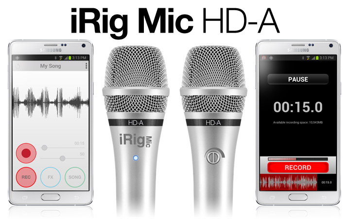 EZ Voice app and iRig Mic HD-A the first digital mic for Android