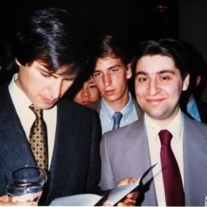Greg and Steve Jobs 1986